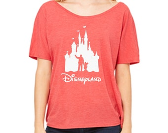 Disney Shirts Ladies Slouchy Tee Partners Disneyland Castle Shirt Disneyland Shirt Disney World Shirt womens shirt  Magic Kingdom Tee