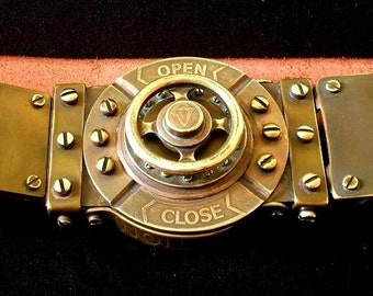 "Belt steampunk  ""Belt the Machinist of Steam Era"""