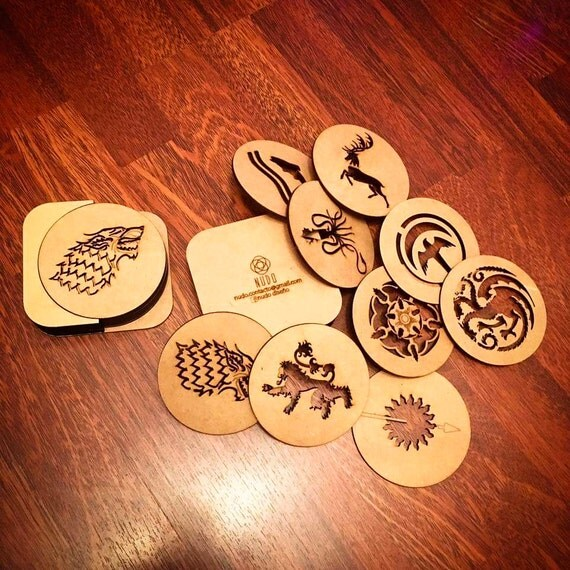 Game of Thrones Beer Coasters: 6 Steps (with Pictures)