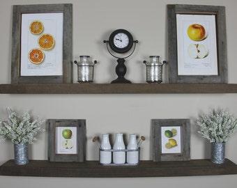 Solid Built- Rustic Floating Shelf- Floating Shelves- Kitchen Shelf- Nursery Shelf- Bathroom Shelf- Made in Montana- Handmade