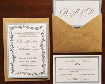 Wedding Invitations and RSVP Set