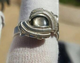 Black Star Sapphire ring size 9.5-10