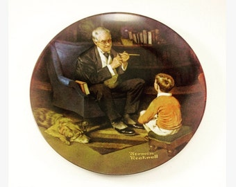 Norman Rockwell Collector Plate the tycoon 1982 number six in series