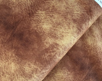 """End of Bolt, Brown Leather Look Cotton Fabric from the Destination Paris Collection by Whistler Studios for Windham Fabrics 34""""x44"""""""