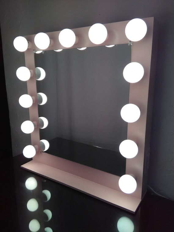 Vanity Mirror With Lights And Plugs : Lighted Vanity Mirror Dimmer USB Outlet by CustomVanityJ on Etsy