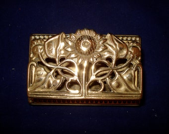 brass stamp box