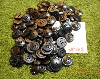 Black Buttons,  Item # 102