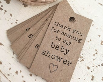 Rustic Baby Shower Tags Pk10