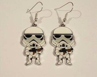 Storm trooper Star Wars Earrings