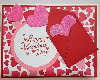 Send Your Love Valentine's Day Card, Handmade Card, Valentines Day Card