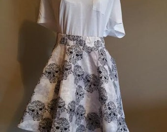 Skulls Circle Skirt