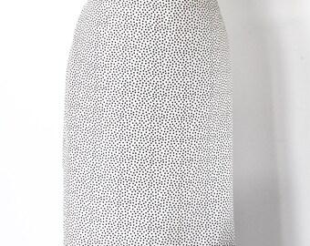 JAEGER Smart Creamy White Polka Dot Ladies Silk Skirt - 100% Silk - UK Size 16