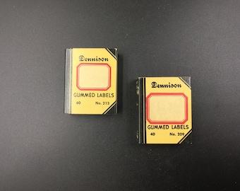 Vintage Dennison Labels