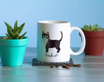 Tuxedo Cat Mug (girl)