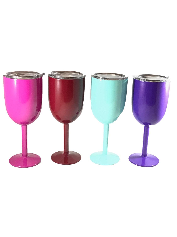 10 oz long stem yeti style wine glass custom powder coated. Black Bedroom Furniture Sets. Home Design Ideas