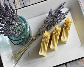 Organic Lavender & Bergamot Handmade Cold Process Soap   Vegan   Palm Oil Free   4oz Bar