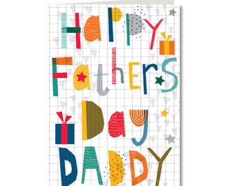 SPECIAL OFFER! Was 1.99, Now 1.50 - Cut-Out Cuties - Happy Fathers Day Daddy - Father - Dad - CO41