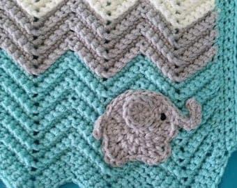 Baby Elephant Crochet Blanket