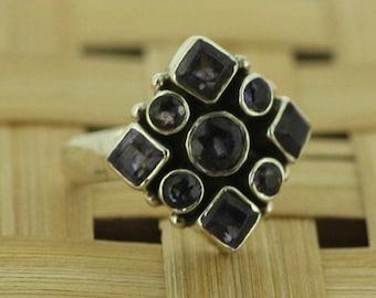 925 Sterling Silver  Ring Iolite  Gemstone