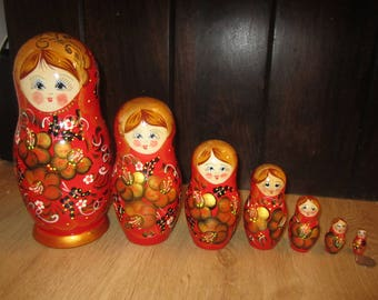 Russian Doll Matryoshka  set 7 pcs hand painted