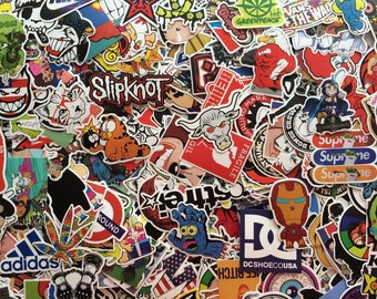 Set of stickers, stickers to choose from for stickerbombe scrapbooking brands, anime, video games for pc, bike, skateboard...