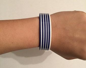 White and Bleu Bracelet