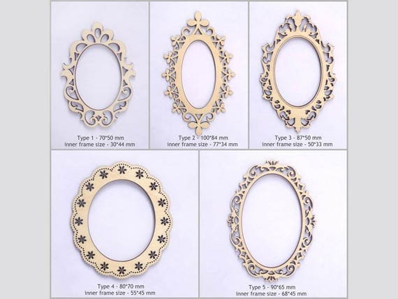 oval scrapbook frames for your art laset cut frames photo frames laser cut wood scrapbook supplies scrapbook dies wood cutouts from - Wooden Laser Cut Frame