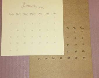 Mini Desktop/Magnetic Calendar