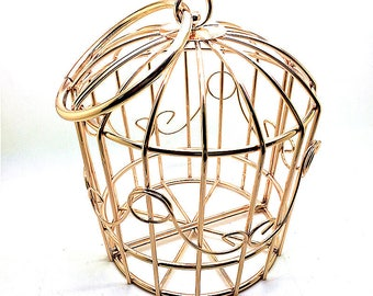 "Bird cage metal frame clutch bag with circle metal handle, 13cm x 15cm x 16cm / 5"" x 6"" x 6"" M88"