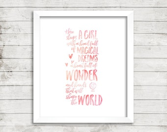 Quote, Clean, Simple, Typography, Digital Download, Printable, Wall Art, Nursery, Girl's Room, Daughter, Minimalist