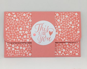 Handmade gift card holder