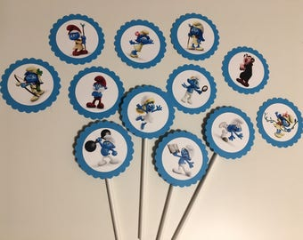 Smurfs Cupcake Toppers, Smurfs Lost Village Cupcake Toppers, Smurfs Birthday, Smurfs Cupcakes, Smurf Birthday Theme