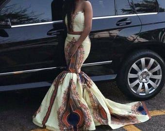 African  print Formal dress
