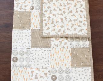 Briar Quilt, bunny quilt, farm animal quilt, baby blanket, gender neutral, baby bedding, nursery quilt, nursery bedding, farm animal baby