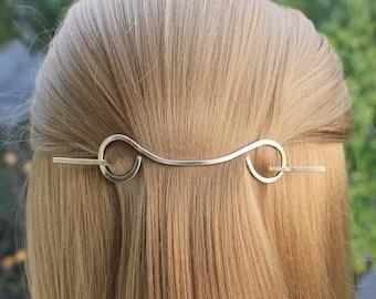 Brass hair barrette Hair Pin, Wedding Hair Clip, Hair Stick Hair Slide, Metal Scarf Pin Shawl Pin Sweater Brooch Small, Medium, Large
