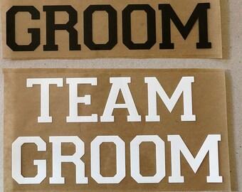 Team groom,Groom Iron on decal,Bride team,Bride DIY heat transfer.