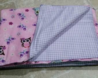 Owl baby/toddler blanket