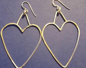 Lovely heart shaped starling silver earring