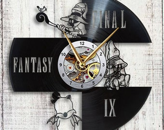Vivi Final Fantasy ix Vinyl LP Record Wall Clock