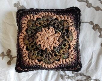Hand Crocheted throw pillow