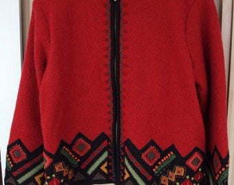 Folklore Boiled Wool Jacket