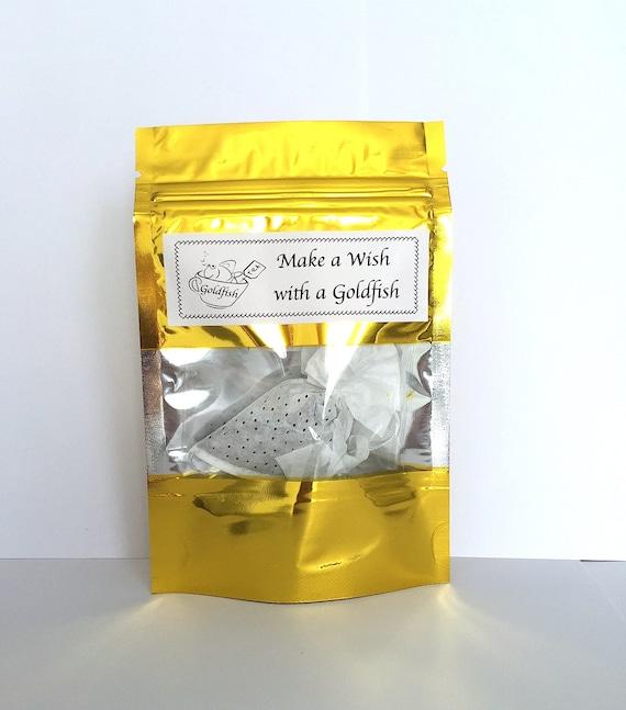 Make a wish goldfish tea bags birthday gift lucky fish for Fish tea bags