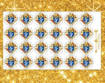 Glossy Round Knights Of Columbus Stickers | Jen