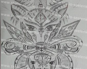 "shamanic image copy ""Healing vision"" on A3-"