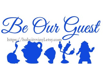 Disney Be Our Guest Vinyl Decal