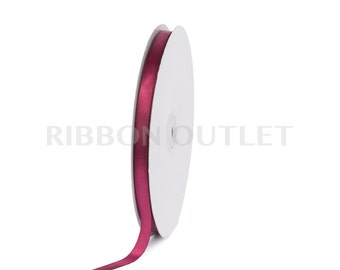 "3/8"" Burgundy Wine Satin Ribbon 100 Yards Per Roll"