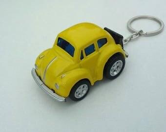 3D Love bug custom keychain , VW Old Beetle Keychain, Car Keychain