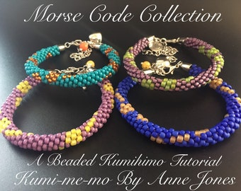 Morse Code Collection - Beaded Kumihimo Tutorial Bundle Offer