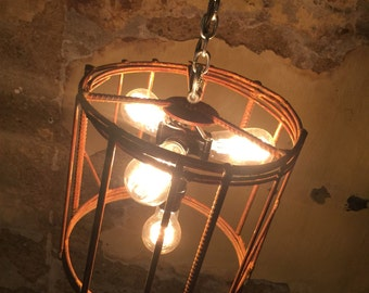 Indistrial-Vintage 4-light Chandelier