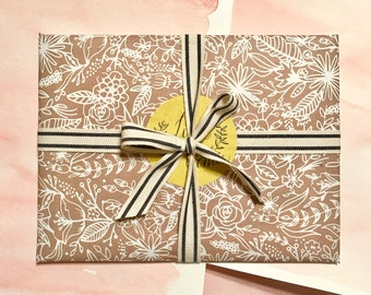 Gift Wrapping for LineAveCalligraphy Portraits and Stationery- ADD ON